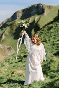 Elopement wedding dress from Boho Bride bridal shop in Warwickshire