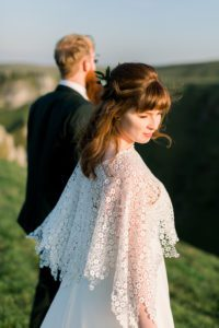 Bridal poncho/bolero from Warwickshire bridal shop