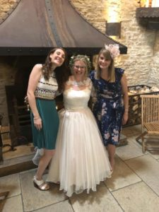 Bohemian wedding dress at Stratford-Upon-Avon wedding dress shop