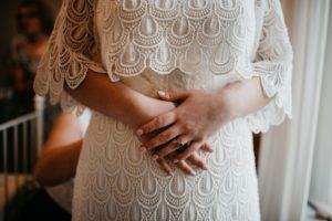 bespoke boho style wedding dress