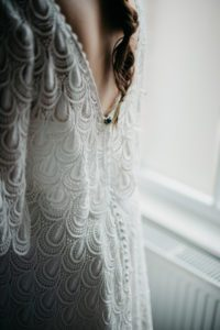 Bespoke boho wedding dress tailor made in Stratford Upon Avon, UK