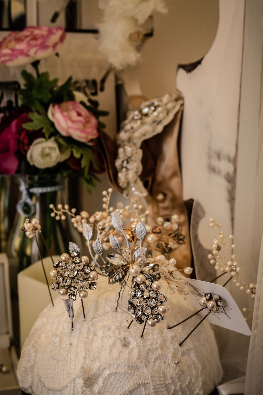 Hair accessories at Boho Bride in Stratford-Upon-Avon