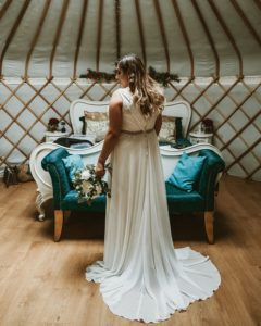 Bespoke wedding dress created by Boho Bride in Stratford Upon Avon