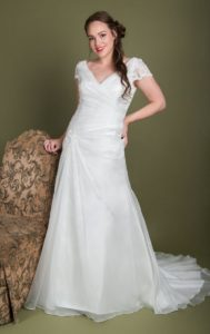 Designer wedding dress by Millie Grace plus size collection