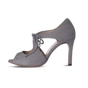 Grey mother of the bride high heel shoes