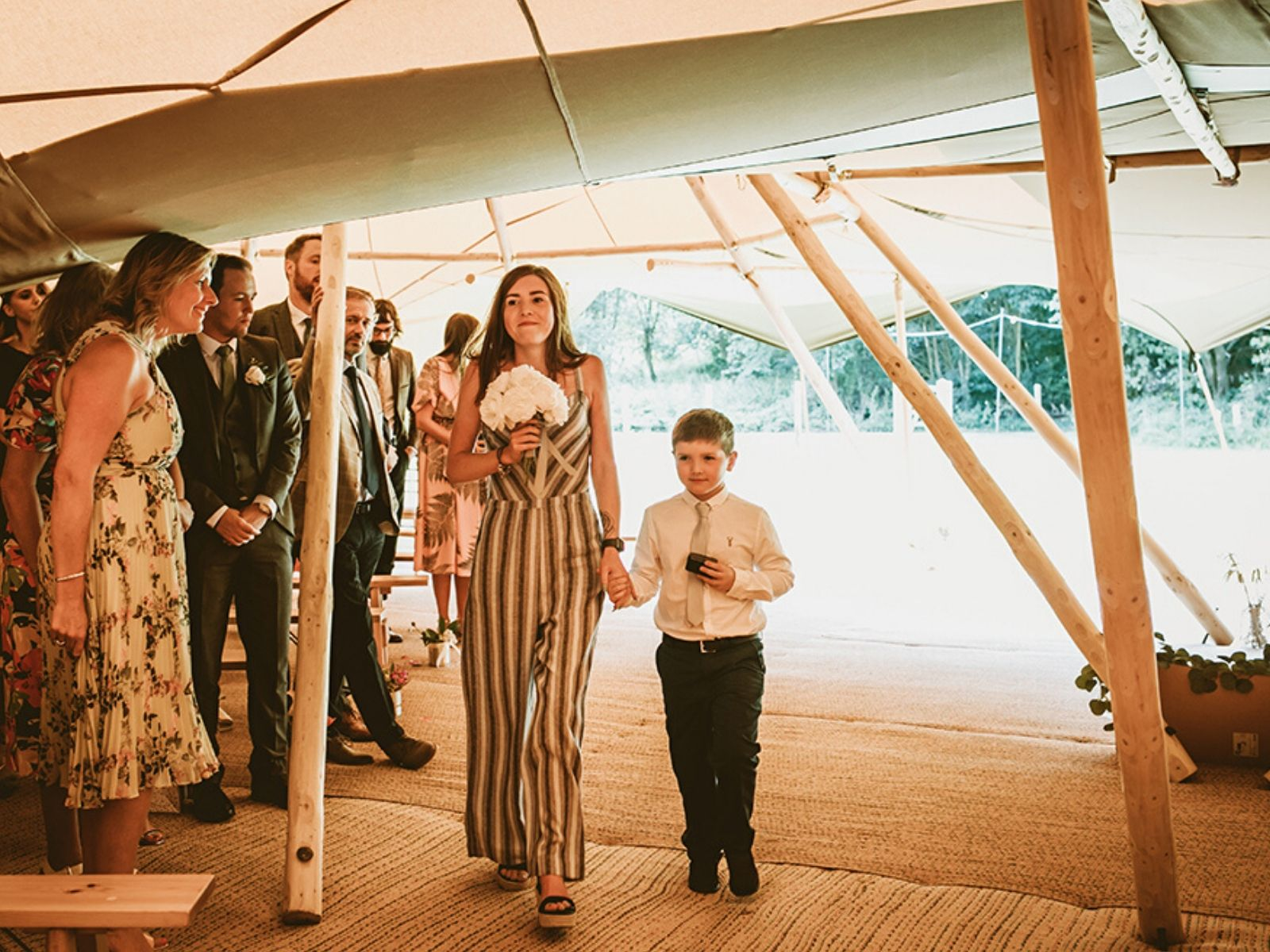 Hidden Hive wedding venue in Rosliston Derbyshire by Peak Tipis