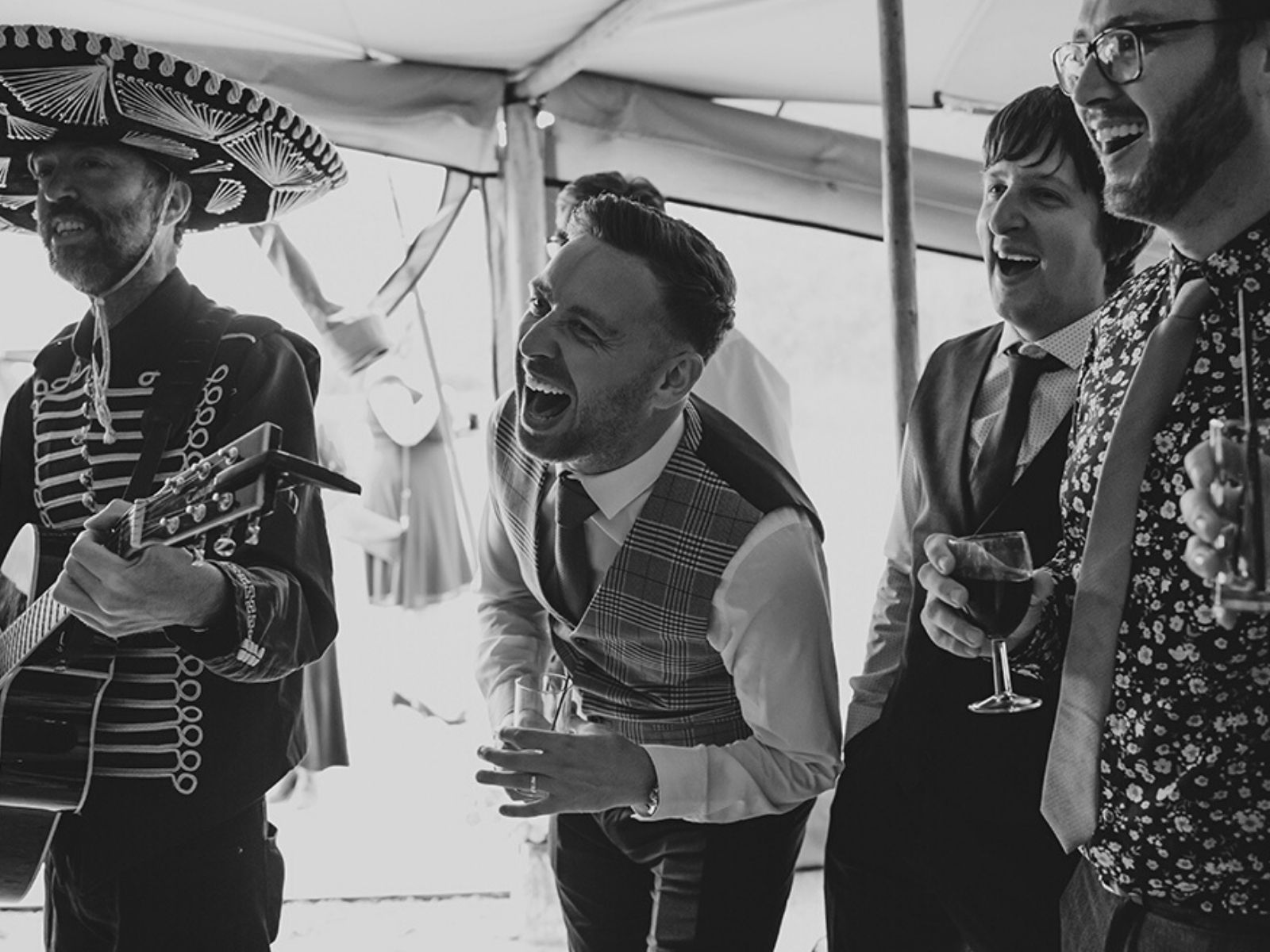 Mariachi band at wedding in Derbyshire