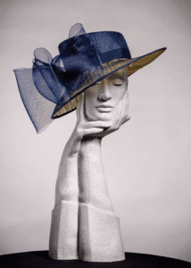 Mother of bride/Mother of the groom blue hat with large, oversized bow
