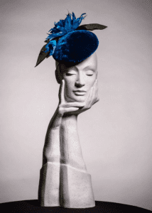 Mother of bride velvet hat by Milliner Kerry Kernan