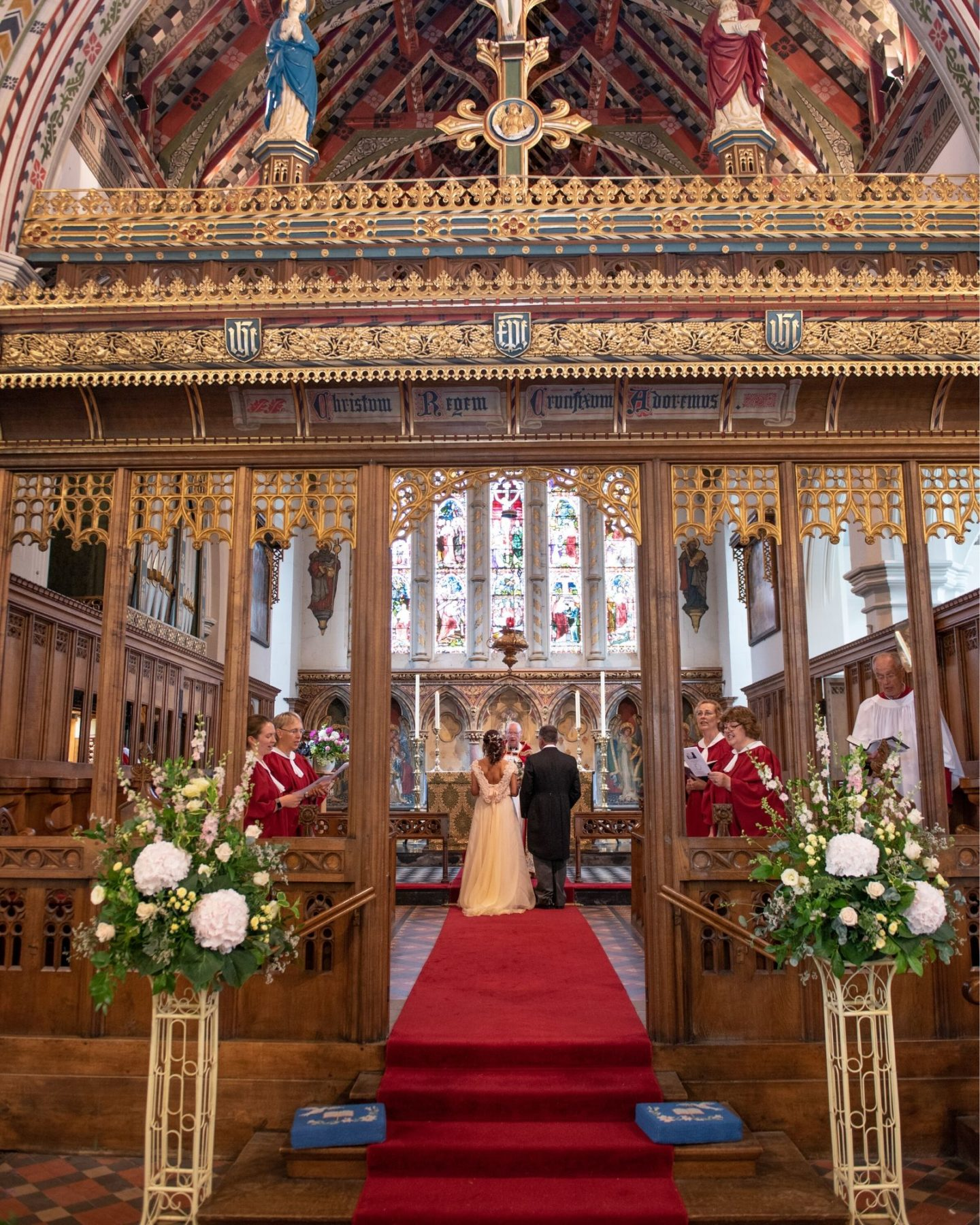Boho Bride Boutique real bride Jacqui at her church wedding in Warwickshire