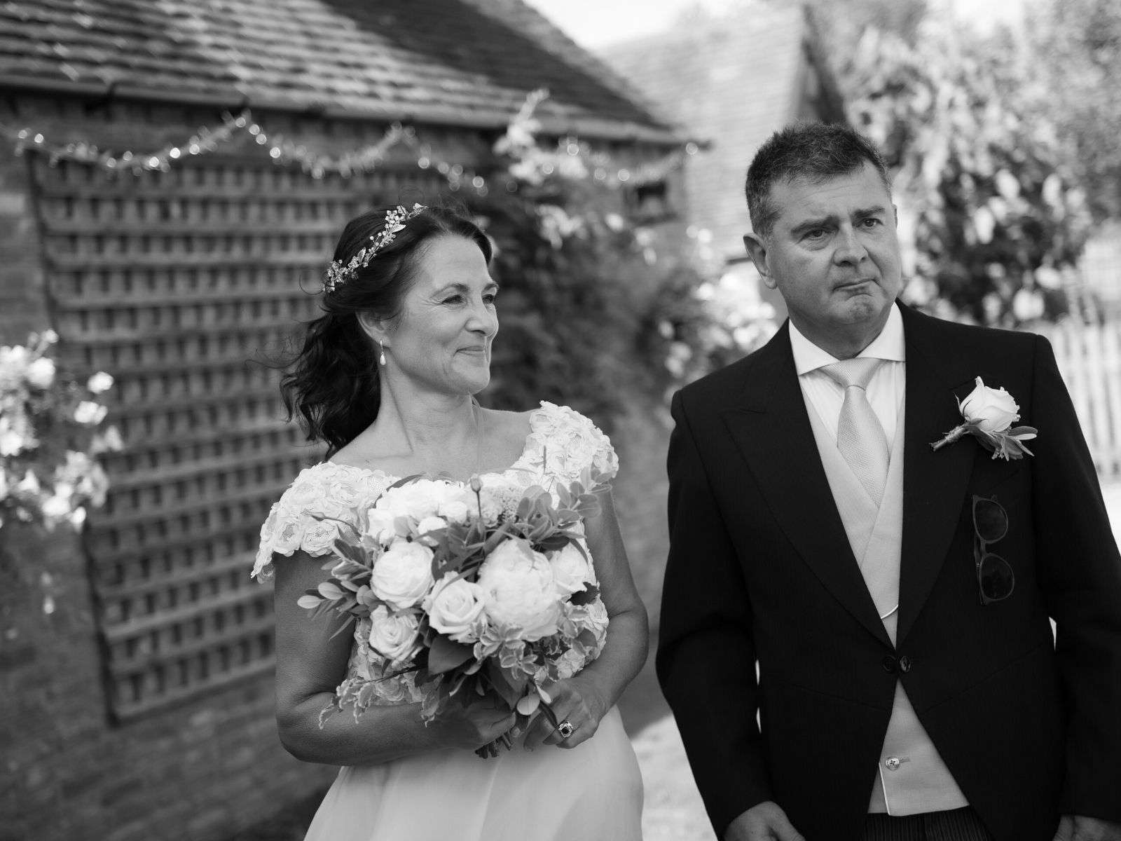 Boho Bride Jacqui on her wedding day in Warwickshire