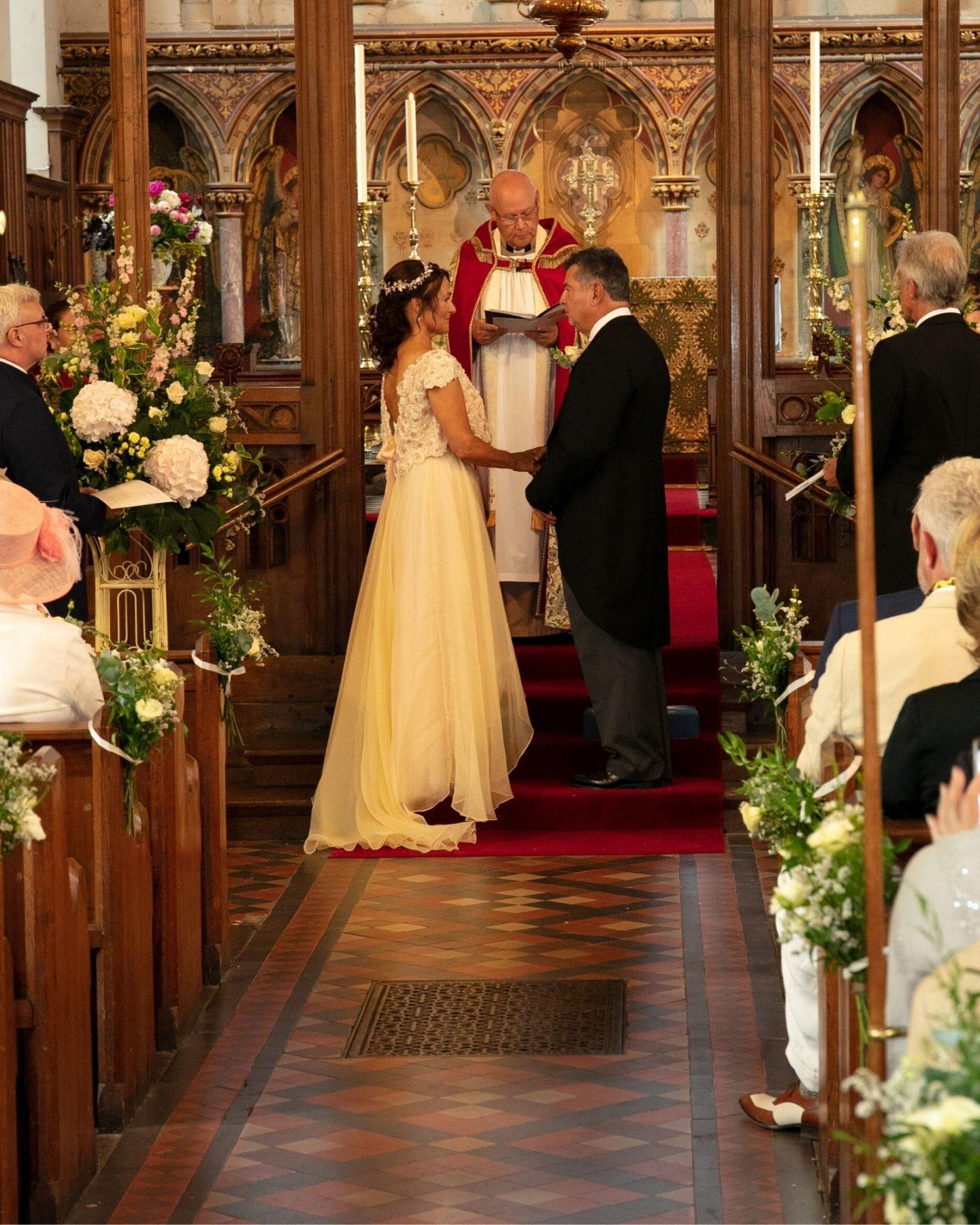 Bride wearing wedding dress from bridal shop in Stratford