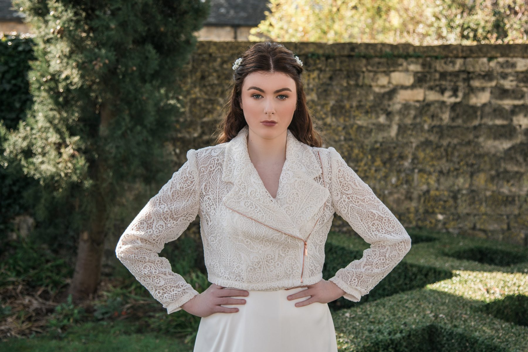 Lace biker jacket from the Boho Bride Freedom Collection