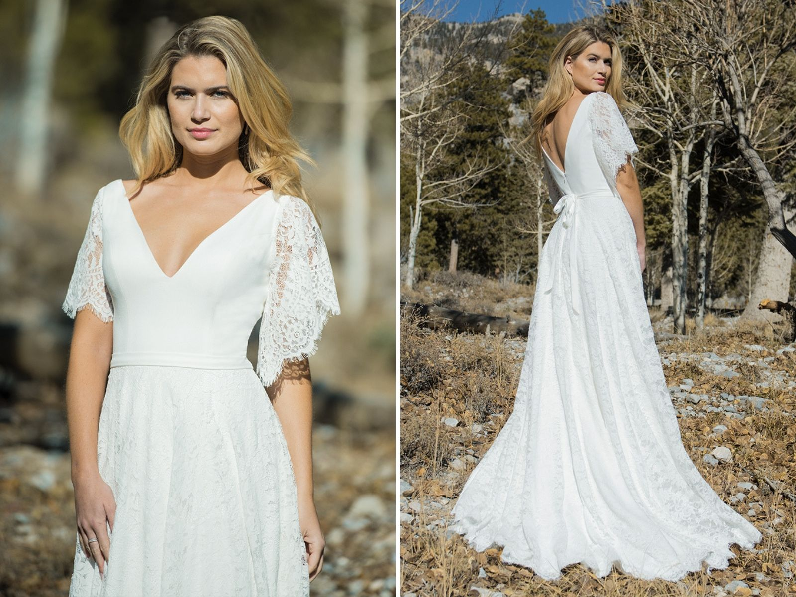 Wedding dress by Ivory and Co at Boho Bride Boutique in Stratford-Upon-Avon