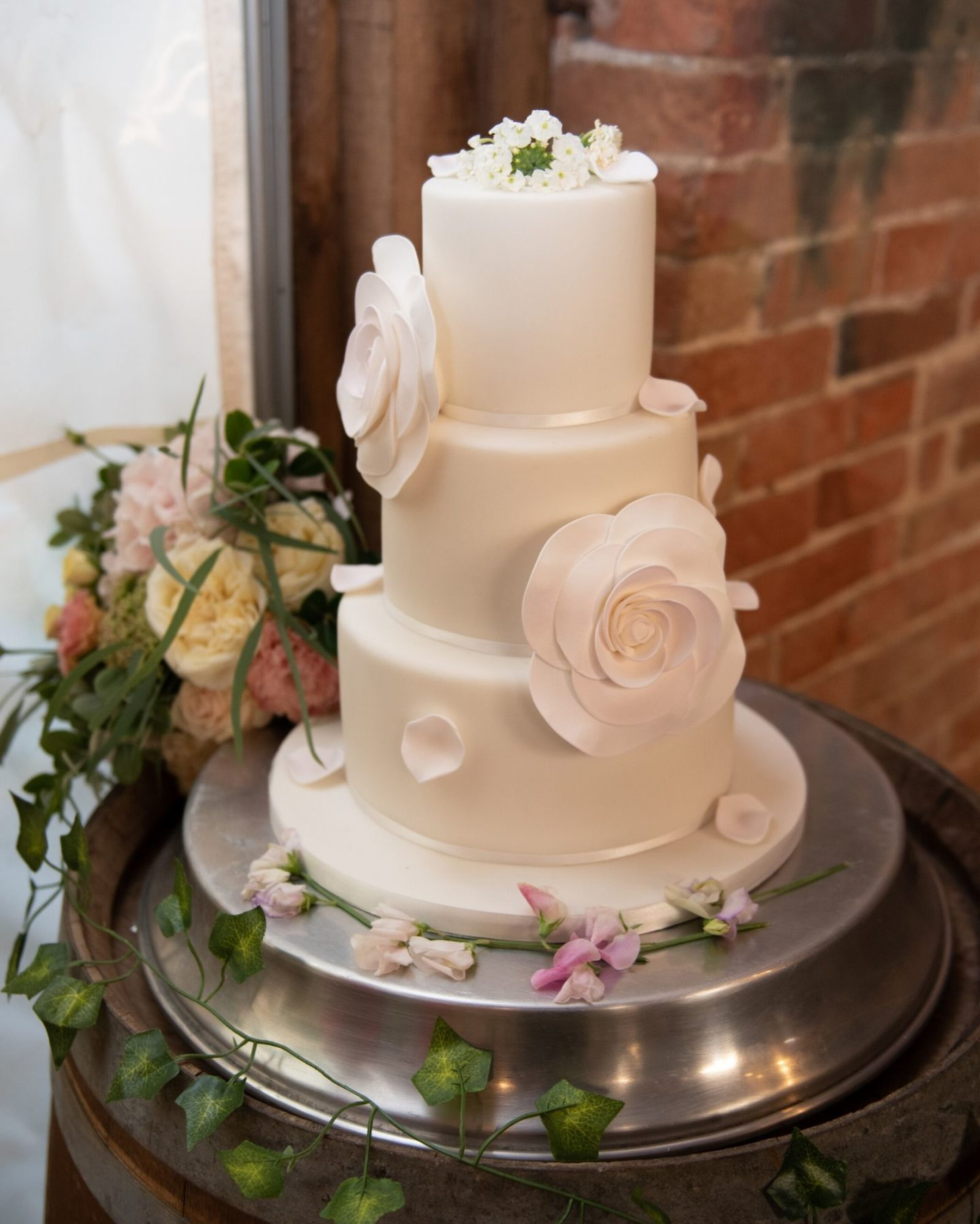 wedding cake from Marks and Spencer