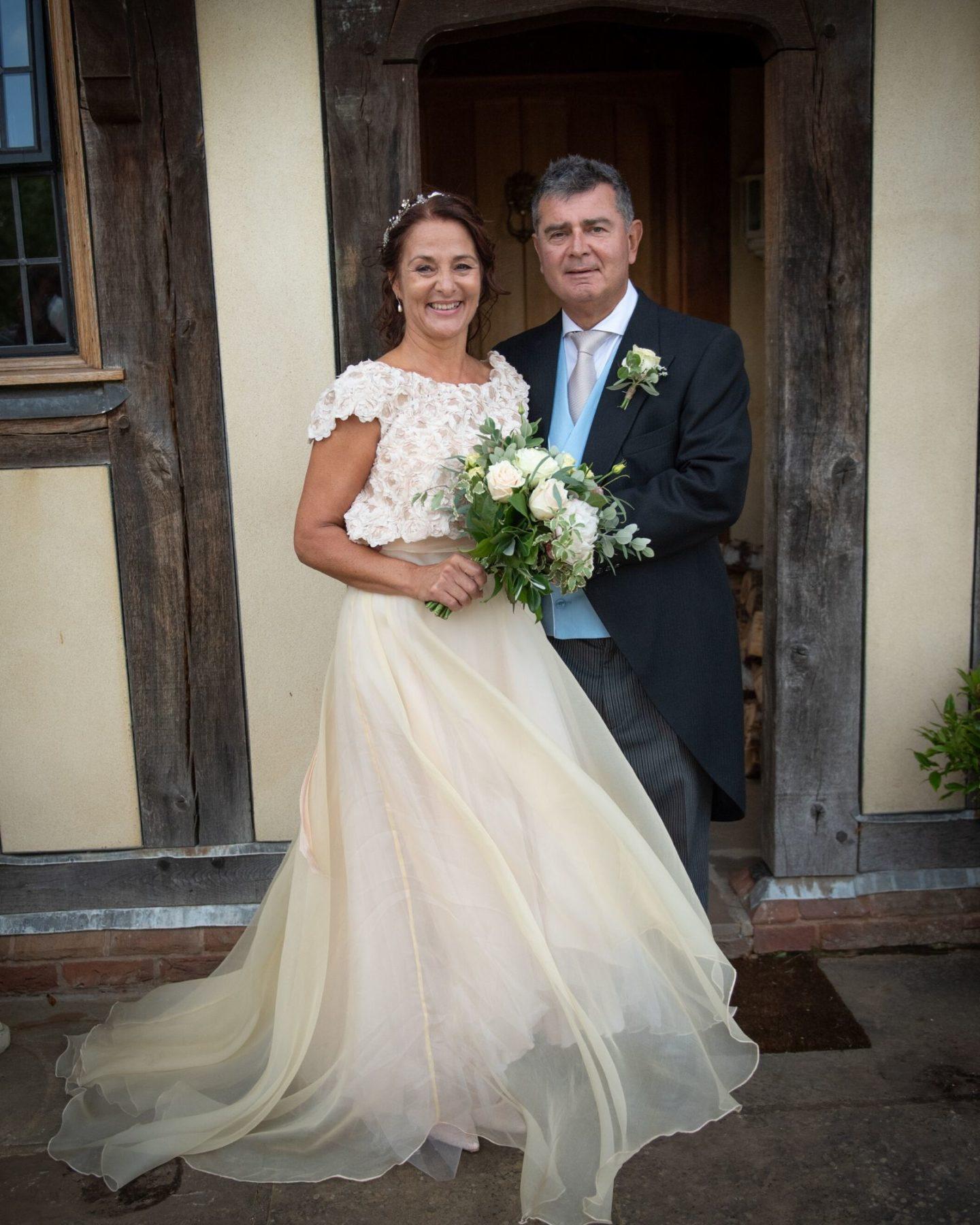 Wedding dress and bolero from Warwickshire bridal shop