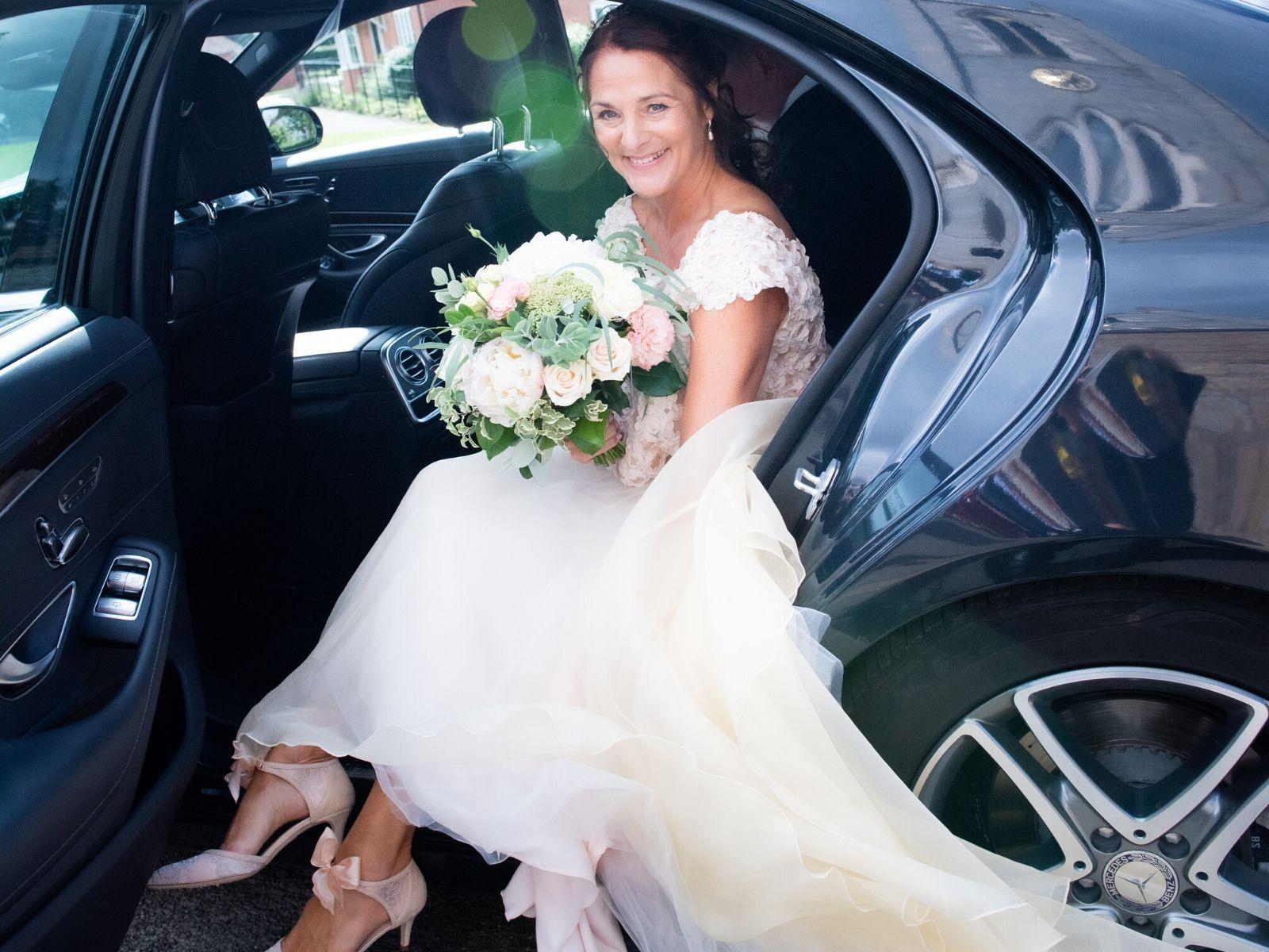Wedding flowers at boho wedding
