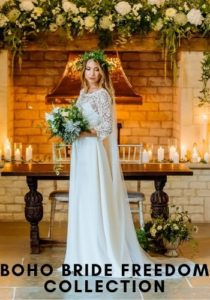 Boho Bride Freedom Collection wedding dresses in Stratford