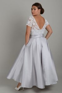 Curvy lace wedding dress in Stratford-Upon-Avon