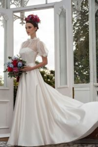Freda Bennet wedding dress for curvy bride in Stratford-Upon-Avon