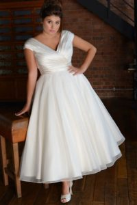 Plus size Lois Wild wedding dress in Stratford-Upon-Avon