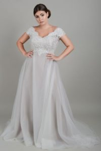 Plus sized Lois Wild wedding dress in Stratford
