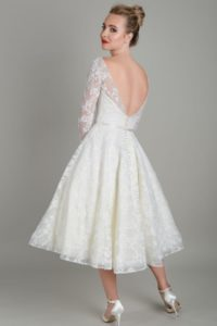 Short wedding dress by Lois Wild