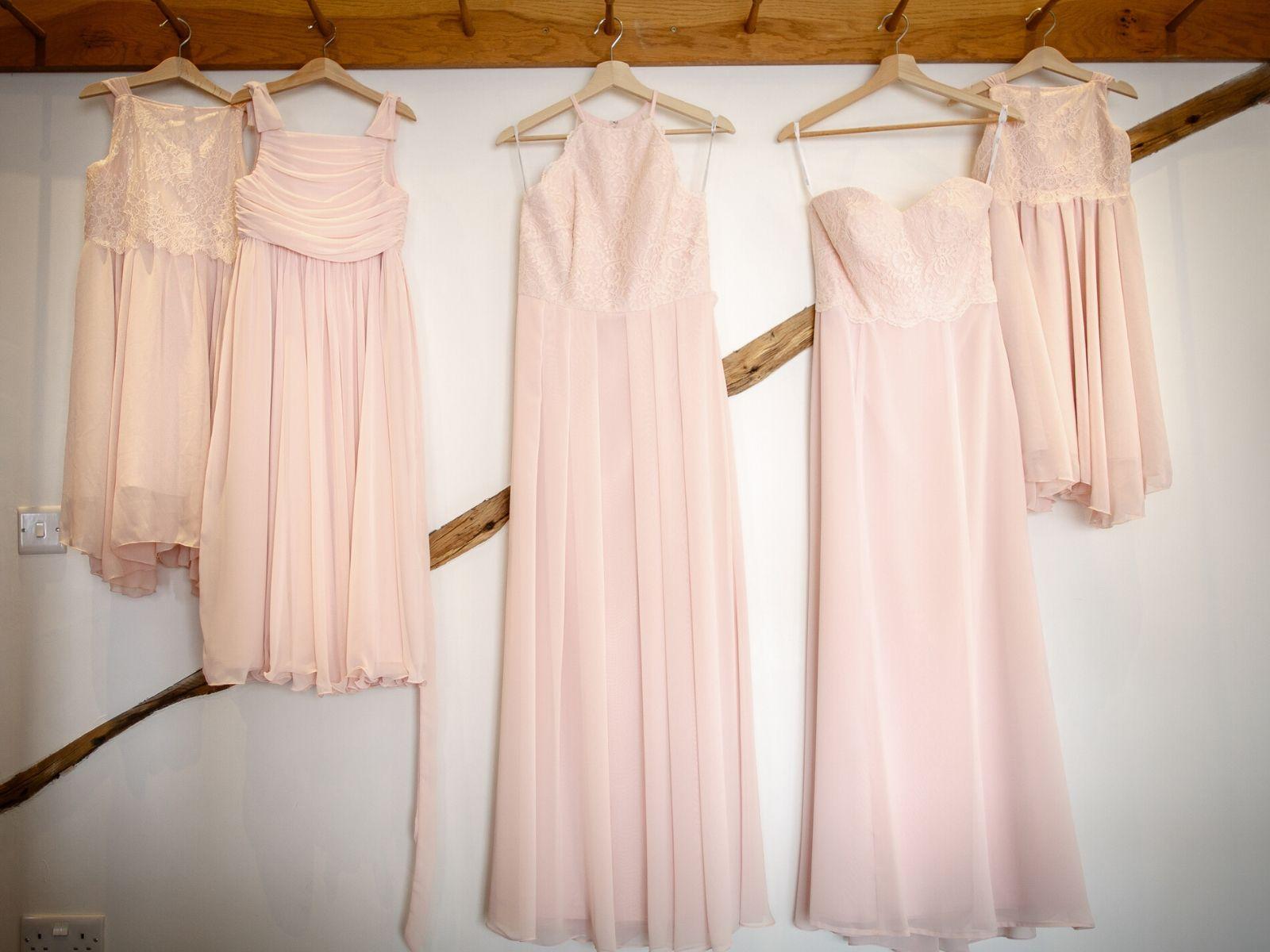 Bespoke pink flower girl dresses