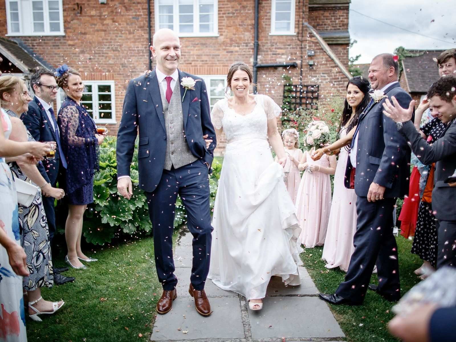 Bride wearing Ivory and co wedding dress