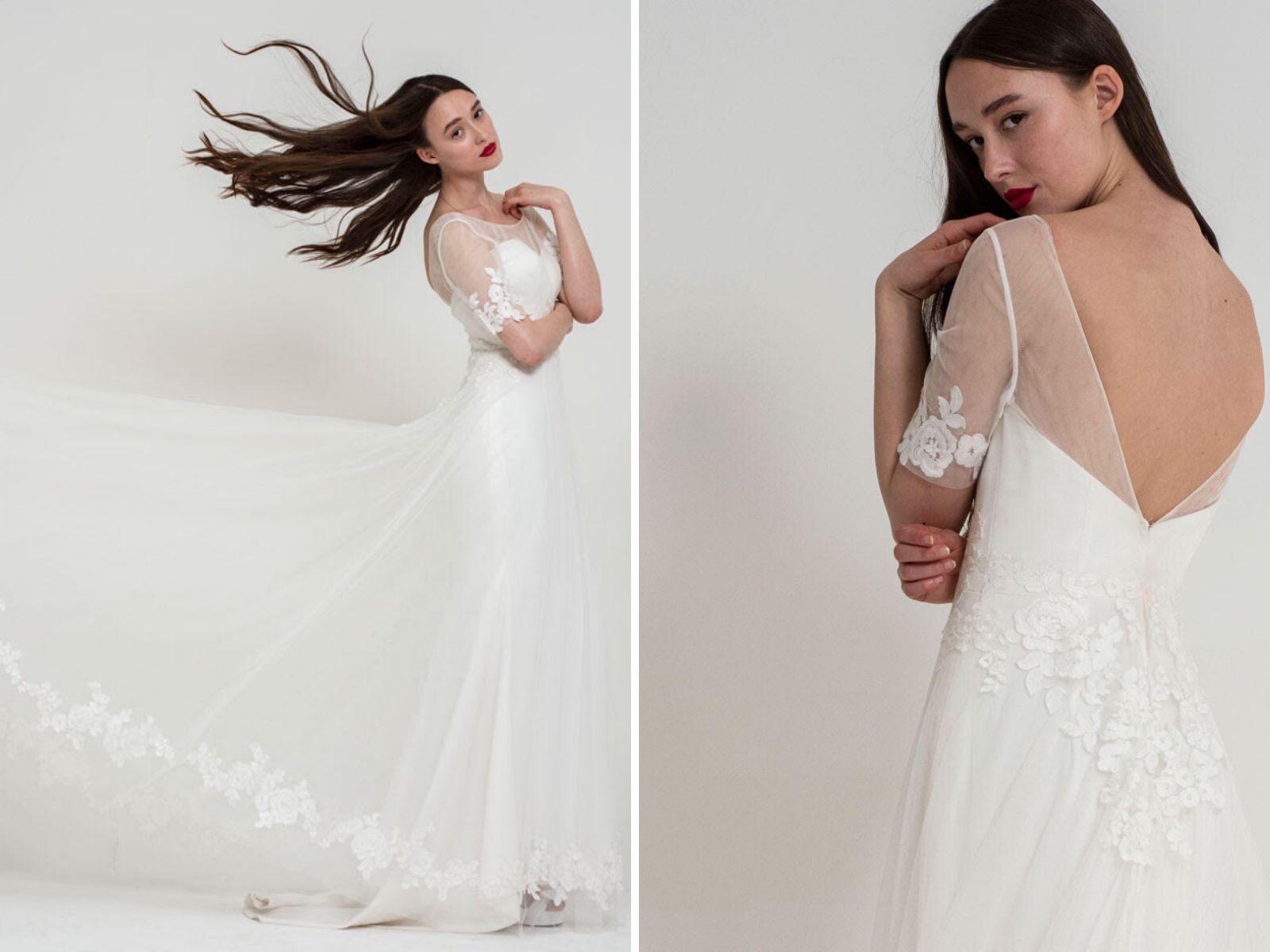 Statement wedding dress by Freda Bennet