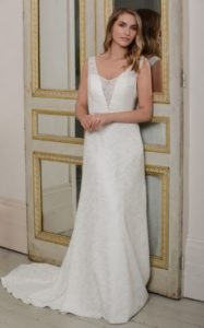 Millie May wedding dress low back illusion neckline stratford-upon-avon