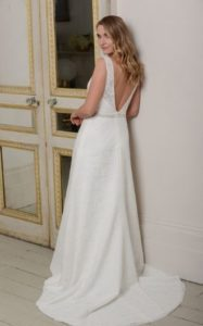 Millie May wedding dress low back waist belt stratford-upon-avon