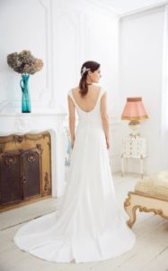 Millie May wedding dress open back stratford-upon-avon