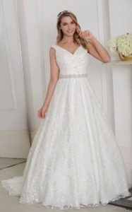 Millie May wedding dress princess gown a-line waist belt stratford-upon-avon