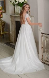 Millie May wedding dress cap sleeves stratford-upon-avon wedding dress shop