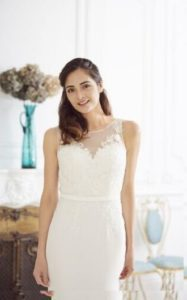 Millie May wedding dress with illusion details stratford-upon-avon wedding dress shop