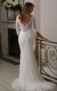 Millie May wedding dress with sleeves stratford upon avon wedding dress shop