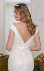 Millie May wedding dress with v-back stratford-upon-avon