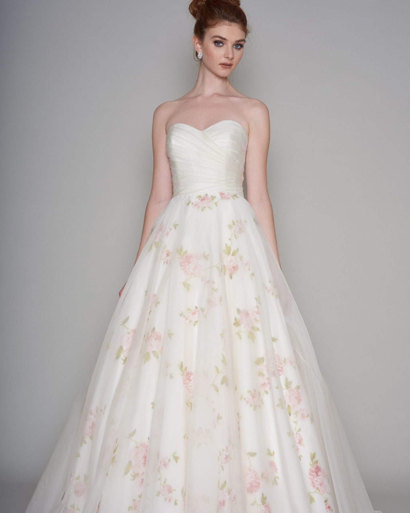 Rose print wedding dress Annie by Loulou Bridal