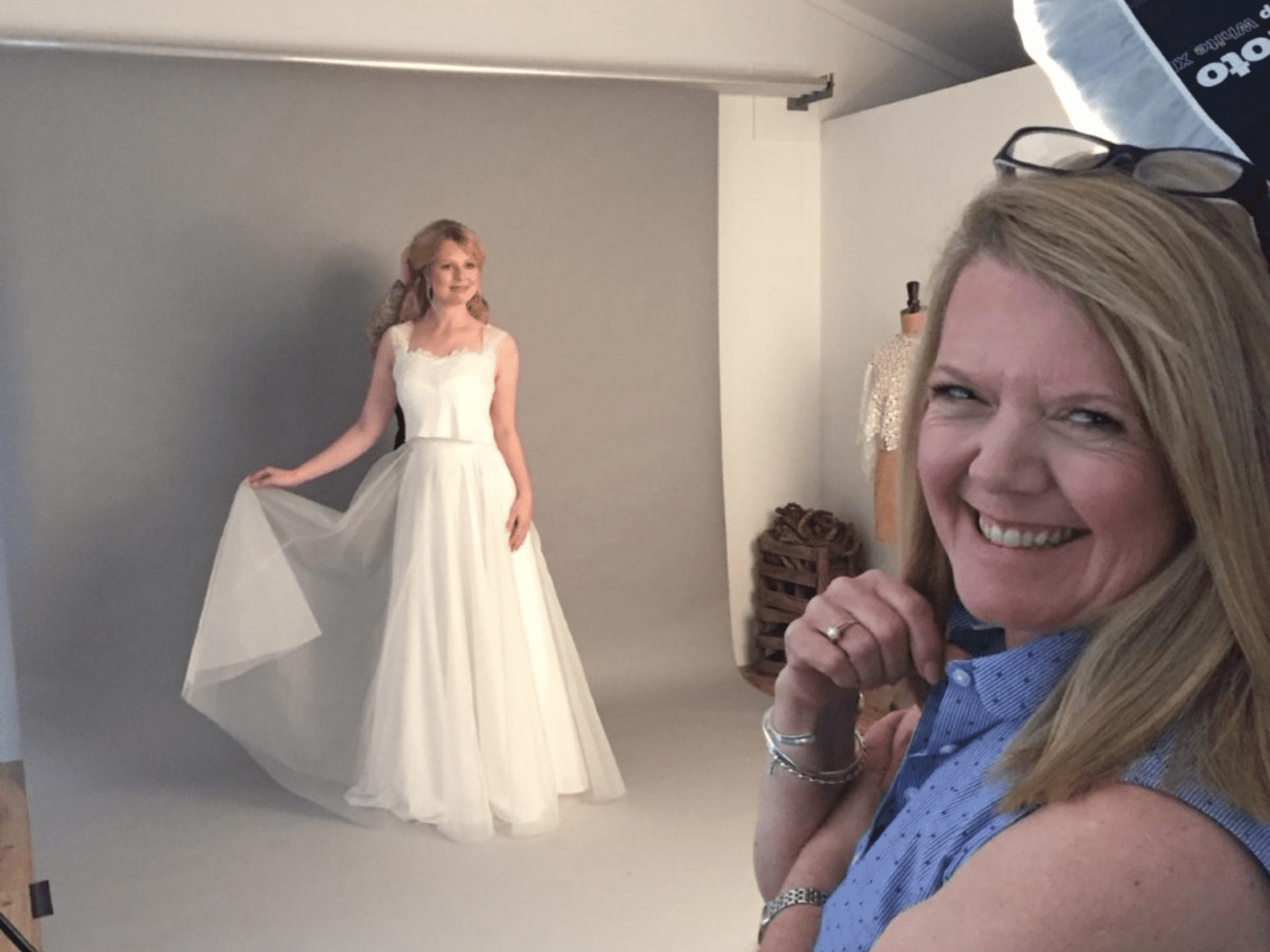 Boho Bride Creative Director Lynette at bridal shoot for The Freedom Collection