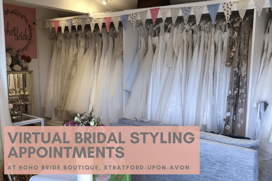 NEW! Virtual Bridal Styling Appointments at Boho Bride