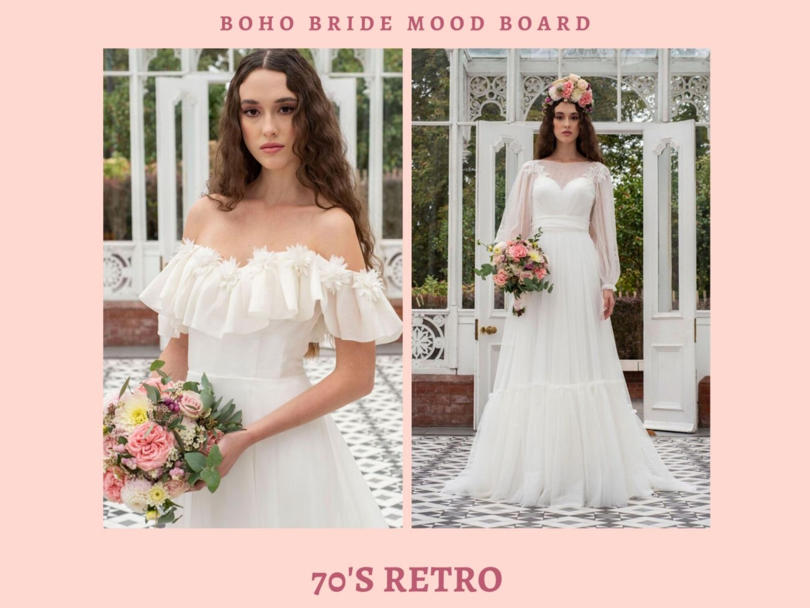 Boho Bride wedding dress wishlist