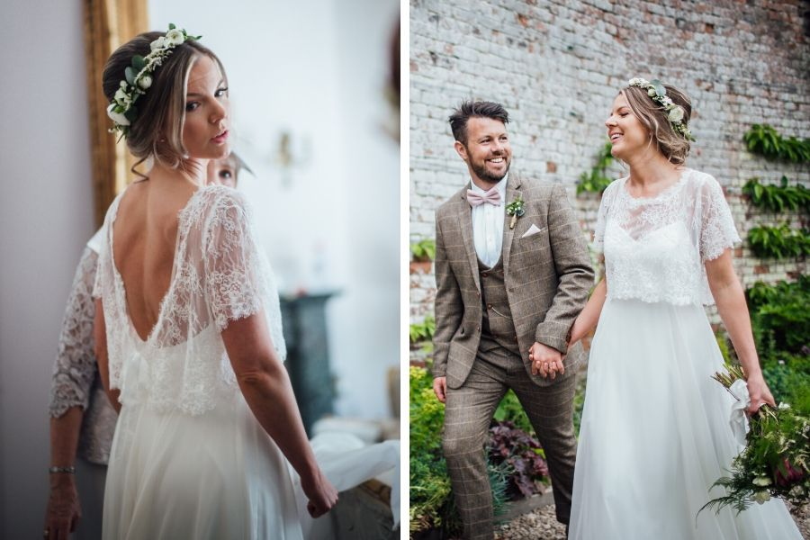 Melissa Wears Boho Bride's Freedom Collection