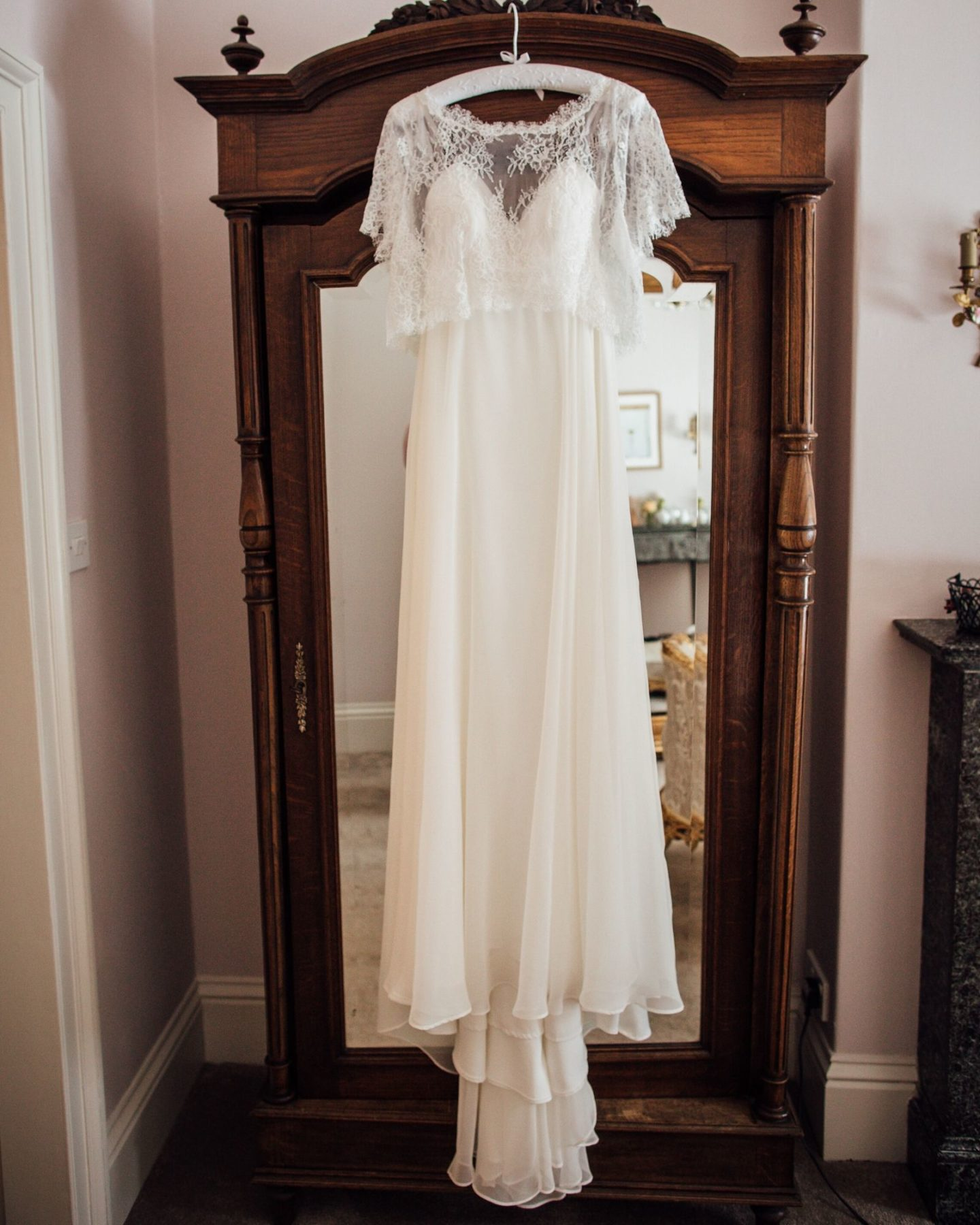 The Freedom Collection lace bespoke wedding dress