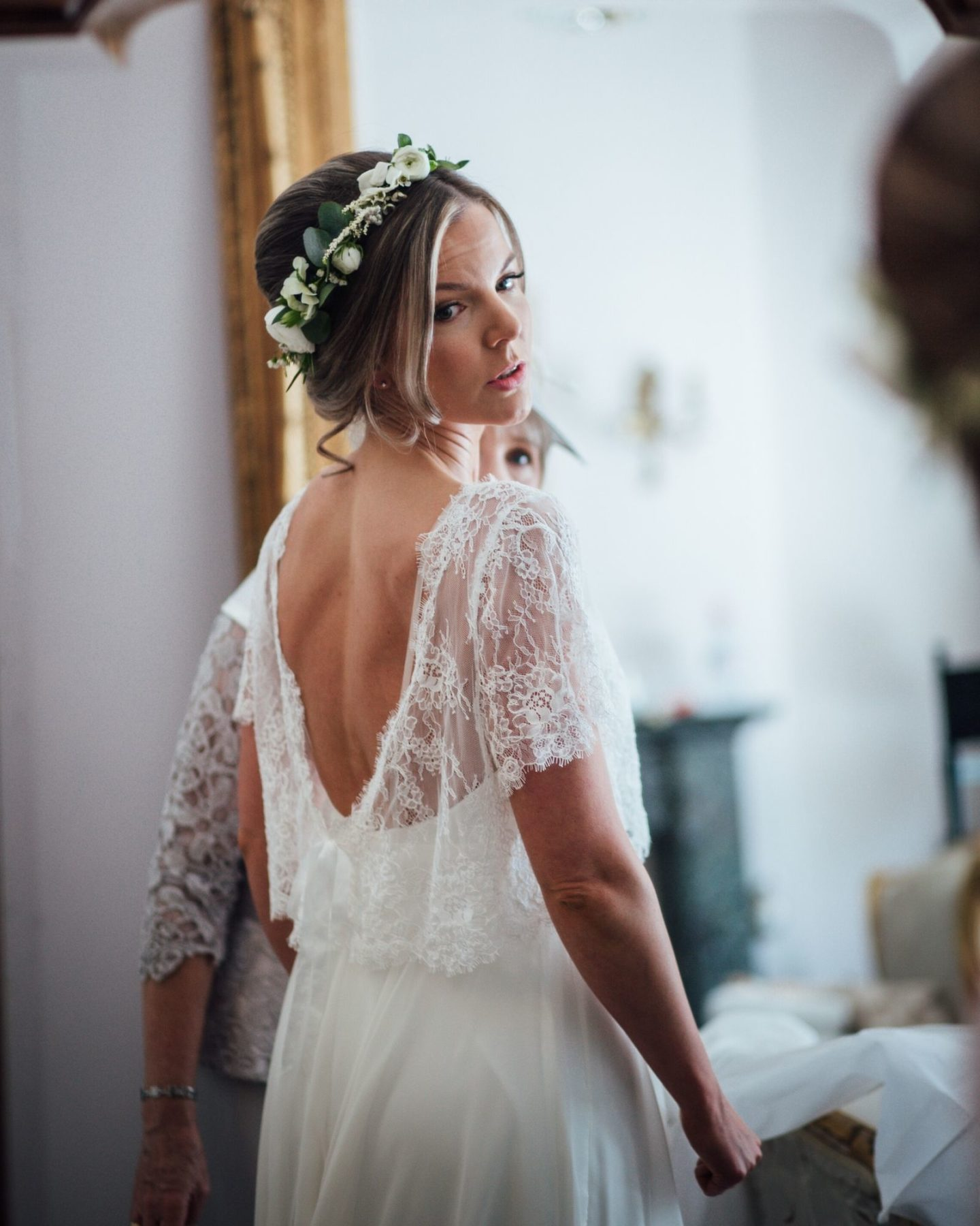 Wedding bolero by Boho Bride wedding dress shop Stratford