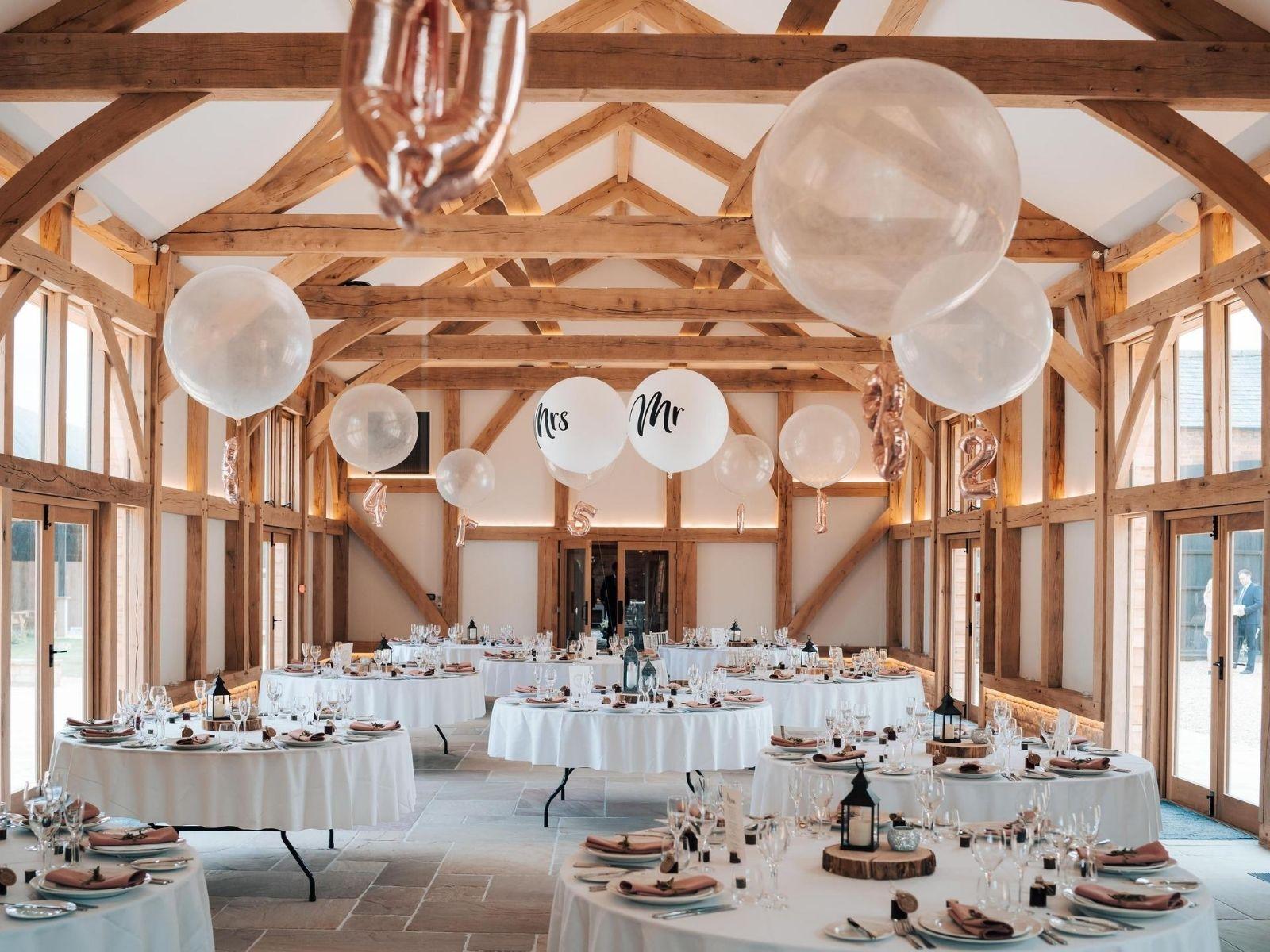 wedding reception at Mickleton Hills Farm wedding venue in Chipping Campden