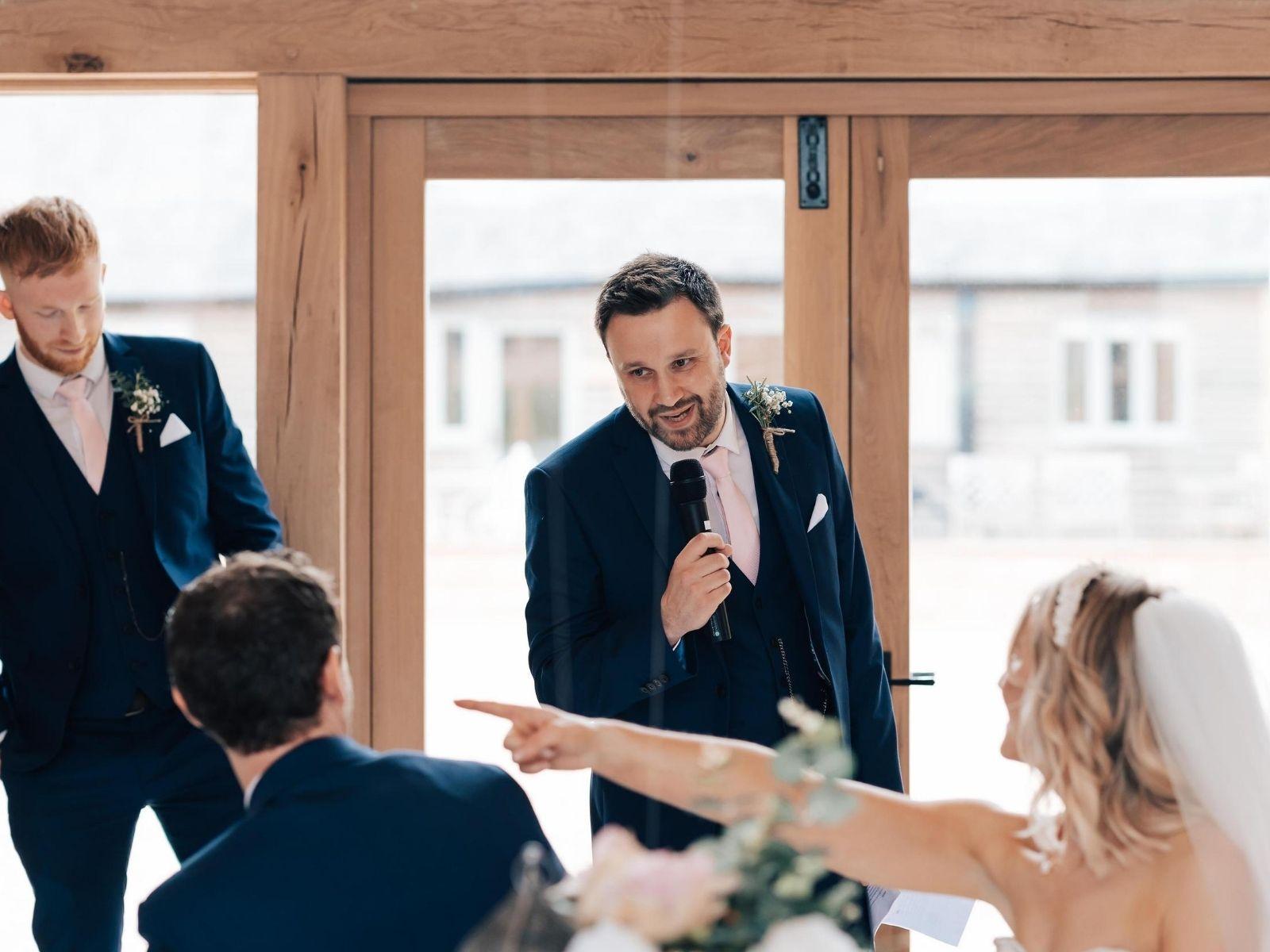 Funny wedding speeches at Boho Bride wedding