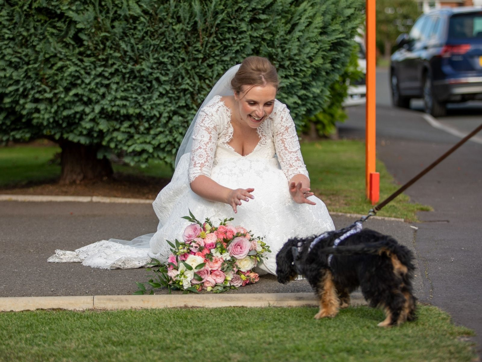 Wedding photography with pets