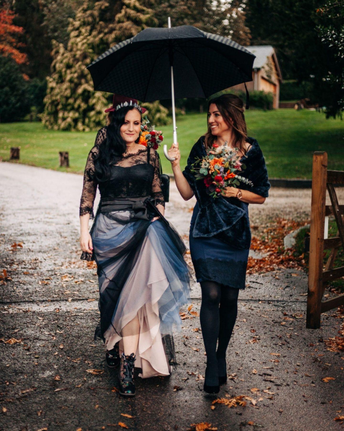 Abi black wedding dress