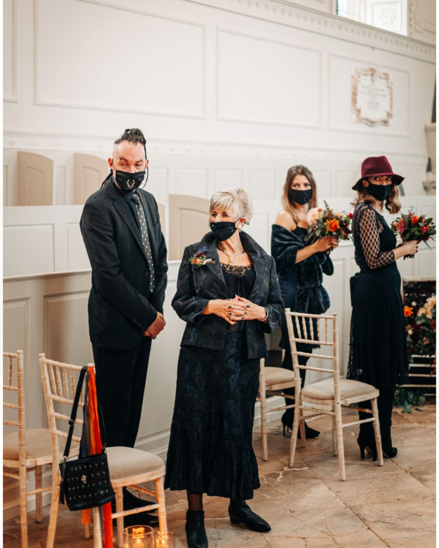 covid wedding ceremony in church